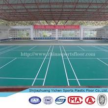plastic floor pvc badminton court size