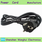 european 2 pin power cord wire cable from china manufacturer
