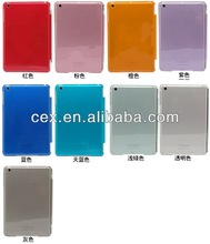 High Quality Ultra Thin Crystal Hard Shell PC Plastic Smart Case Cover for Apple iPad Mini-Multi Color