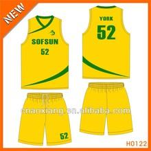 China 2015 man Customized good look basketball wear