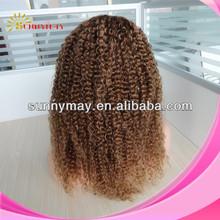 Sunnymay grado superiore bella # 30 medio Auburn ricci vergine peruviana capelli umani bob pizzo davanti parrucche