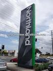 outdoor standing directory backlit pylon signage