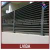 black aluminum fence and aluminum slat fence & aluminum prefab fencing