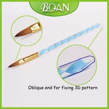 BQAN Blue Acrylic Handle 2012 Best Seller Kolinsky Acrylic Nail Brush
