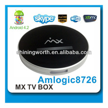 dual core android 4.2 xbmc/skpe internet smart set top box