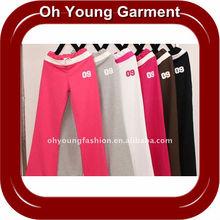 OEM Bulk Plain Polyester Cotton Lady's Pants&Trousers,Yoga Breathable Polyester Pants&Trousers Customized Blank Polyester Pant