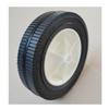 semi pneumatic rubber wheel 7.5x1.75 bar white plastic rim