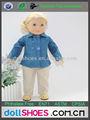 """Clásica azul y gris 18"""" traje de muñeca set accesorios de muñecas de american girl ropa de la muñeca"""