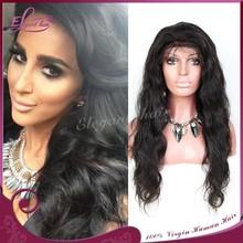 18''inch virgin brazilian deep wave full lace wig factory price 6a human hair