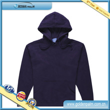 Mens cotton fleece pullover hoodie, Mens cheap fitted plain wholesale pullover