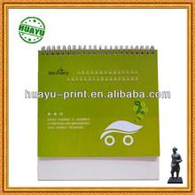 2014 new design spiral desk calendar paper table calendar