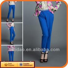 Blue Ladies Womens Fashion Wide Leg Pants Spring 2012