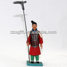 Qin Soldier Warriors Figurine Casting Metal/Pewter Gift Handicraft mqs015