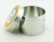 Cylinder storage tin boxes Round storage tank tea candy sealed tin boxes