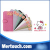 Wallet card solt flip leather case hello kitty case for iphone 5