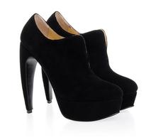 2014 sexy fur ankle boots women sheepskin high heel women boots