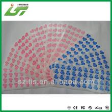 Luxury printing jelly gel window sticker printed