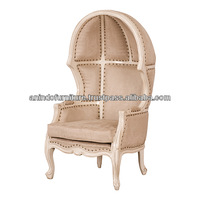 Ivory Painted Canopy Chair