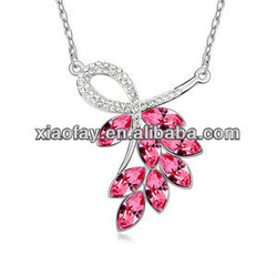 N9556 2013 Rhinestone necklace alloy white gold chain