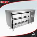 Restaurante 4 aço inoxidável gaveta frigorífico / sob contador frigorífico / contador Top frigorífico