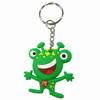 China manufacturer 3d frog cartoon custom soft pvc rubber keyring