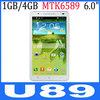 "U89 6"" MTK6589 Quad core Android 4.2 Dual SIM Unlocked Smart Pad Phone"