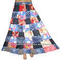 senhoras novo designer de moda patchwork saia longa 2013