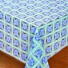 fancy 3d printed non-toxic PVC foam lace plastic coated tablecloths