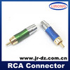 High quality JR cctv audio 75 ohm solder rca audio plug