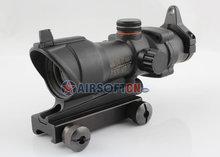 Airsoft Trijicon ACOG Type TA01NSN Replica1x30 Red Green Dot Sight Gun Scope with Quick Detach 11 & 20mm Mount, HD-2B