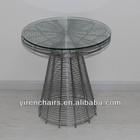 glass top wood coffee table