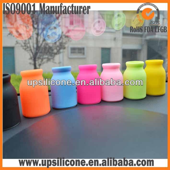 Food grade soft silicone car air freshener bottle