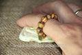 Legno di ulivo originale fatto a mano rosari da Betlemme fingure. Christian