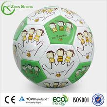 Machine sewn soccer ball with full print
