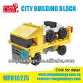قطع صغيرة 83 funlock العلامة التجارية سلسلة شاحنة بناء مدينة الألعاب
