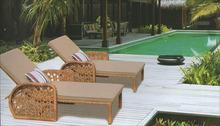 Outdoor Rattan/Wicker Single Sun Bed/Sun Lounger Furniture Series