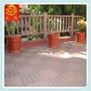 WPC Interlocking Outdoor Floor Tiles/WPC DIY Deck Tile For Garden