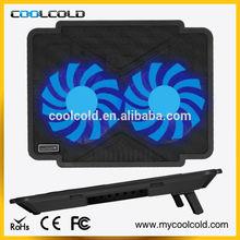 Coolcold super thin usb hub laptop cooler pad, super slim notebook cooling pad