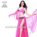 Vestido de danza del vientre árabe,atractivo y de seda