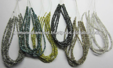 Naturl Uncut Raw Diamond Beads In White Blue Yellow Brown Grey and Black Color