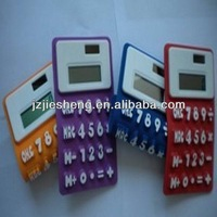 2013 hot sell big size solar silicone folded calculator with 8 digit