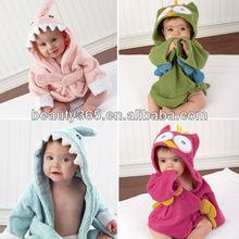 Baby animal cartoon animal baby bathrobe kids bath terry baby hooded bath towel 18394