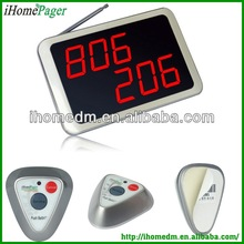 The Receiver displays 3 groups of numbers, wireless digital call bells