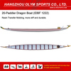 hot sale IDBF certified 20 paddler Resin Transfer Molding (RTM) dragon boats