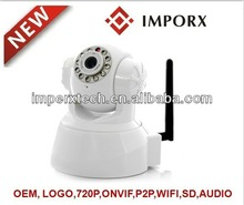 Plug and Play HD Pan/Tilt wireless p2p , 1.0 megapixel sensor ,720P ,Support ONVIF protocol ,Recover Damaged Video Files.spy