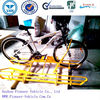 yellow powder coated bike stand bike display stand