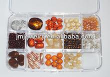 Brown perles de verre perles en acrylique kits de fabrication de bijoux accessoires de mode matière première pour la fabrication de bijoux
