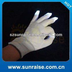 Best selling christmas item rainbow lighting up glove