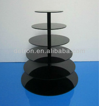 6 tier black acrylic cupcake display stand