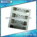 Transparente RFID etiqueta de papel con adhesivo